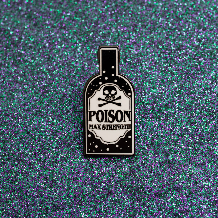 Enamel Pin Badge - Poison Bottle