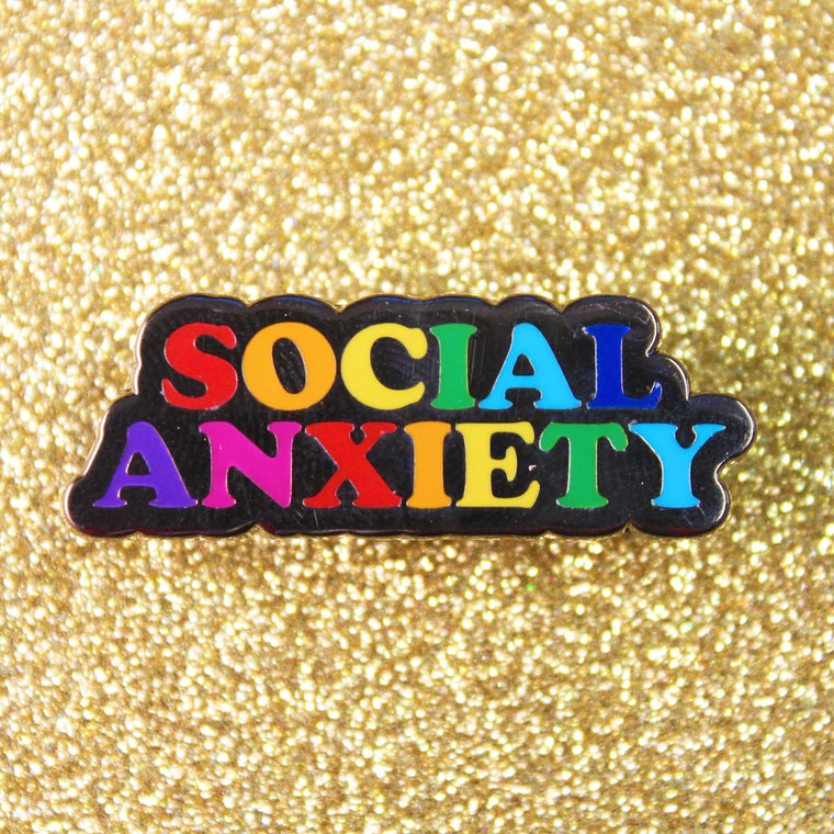 Enamel Pin Badge - Social Anxiety