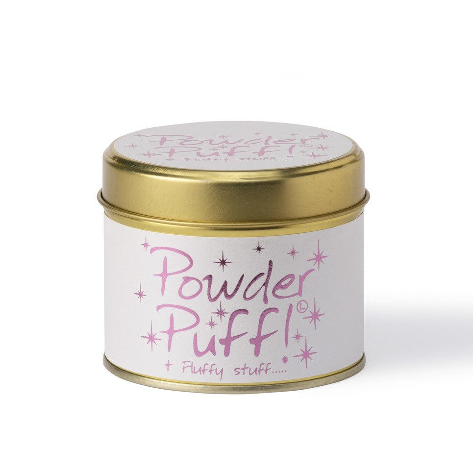 Lily-Flame Scented Tin Candle - Powder Puff