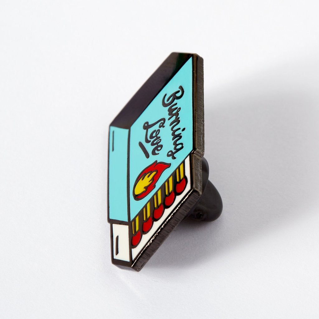 Punky Pins Enamel Pin Badge - Burning Love Matchbox
