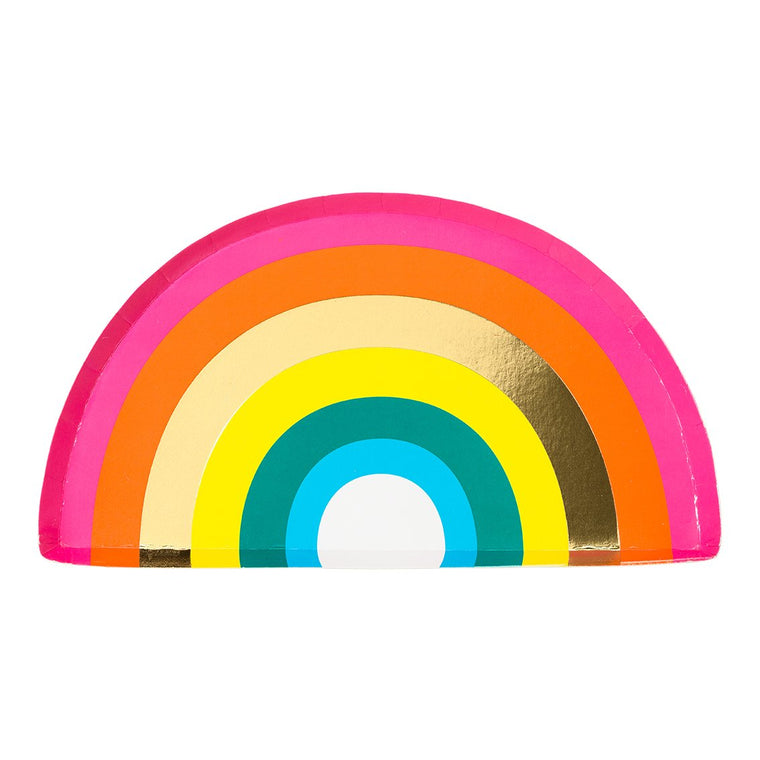 Rainbow Shaped Party Paper Plates