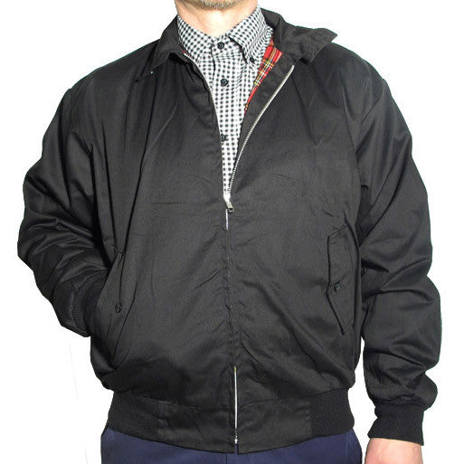 Mens Harrington Bomber Jacket Black