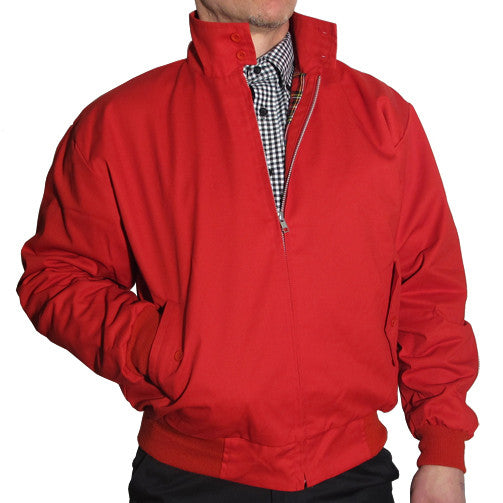 Mens Harrington Bomber Jacket Pillar Box Red