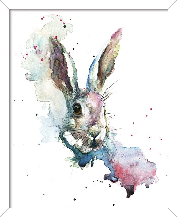 Sarah Stokes March Hare Art Print - 40 x 50cm