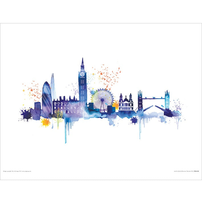 Summer Thornton London Skyline Art Print - 30 x 40cm
