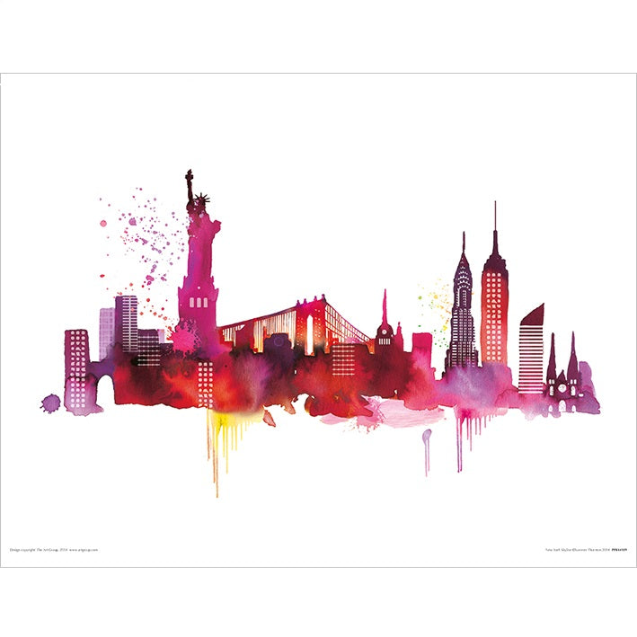 Summer Thornton New York Skyline Art Print - 30 x 40cm