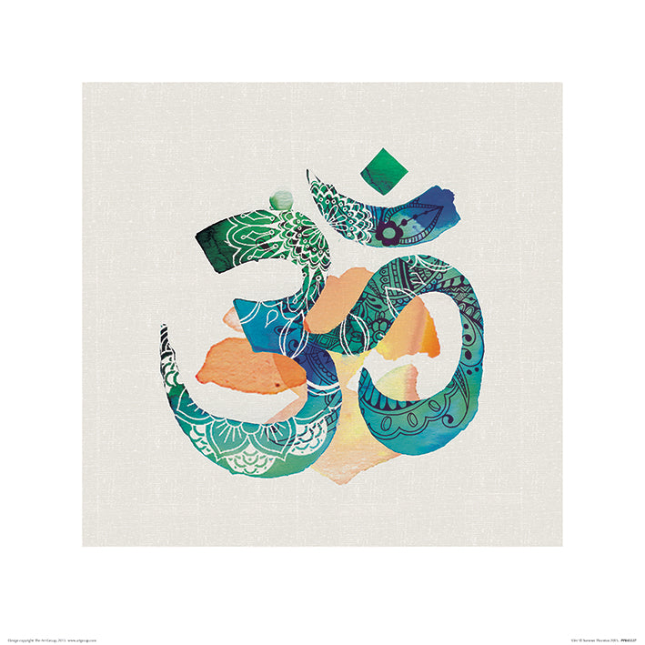Summer Thornton Om Art Print - 40 x 40cm