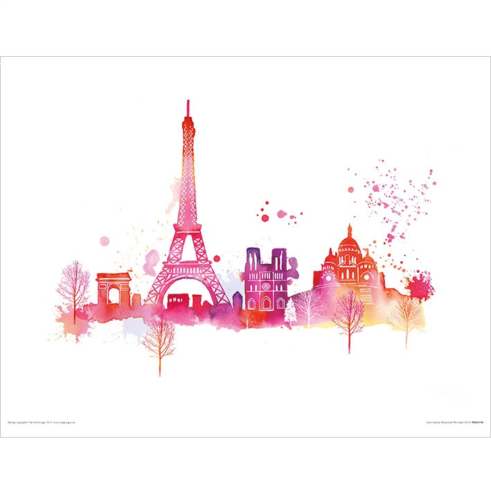 Summer Thornton Paris Skyline Print - 30 x 40cm
