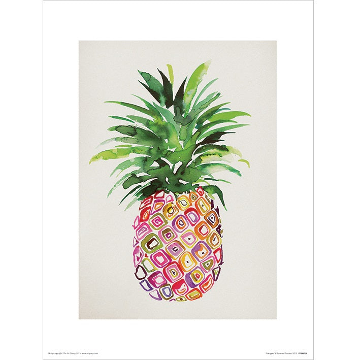 Summer Thornton Pineapple Print - 30 x 40cm