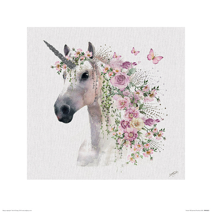 Summer Thornton Unicorn Print - 40 x 40cm