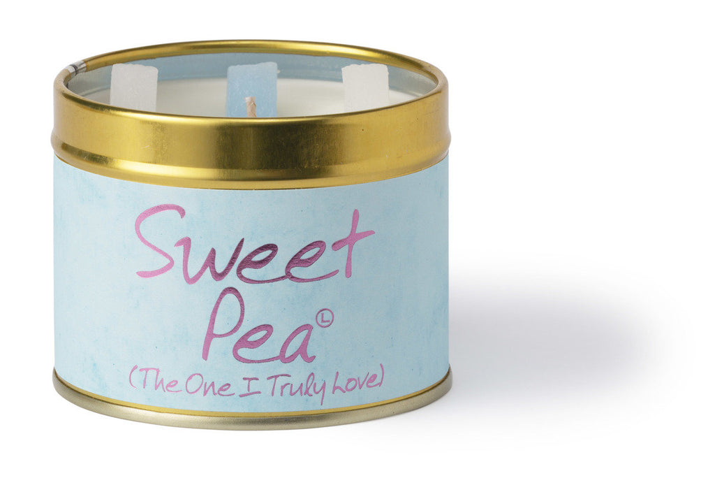 Lily-Flame Scented Tin Candle - Sweet Pea