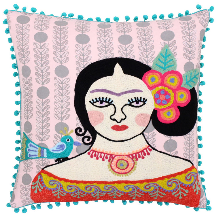 Embroidered Bella Cushion