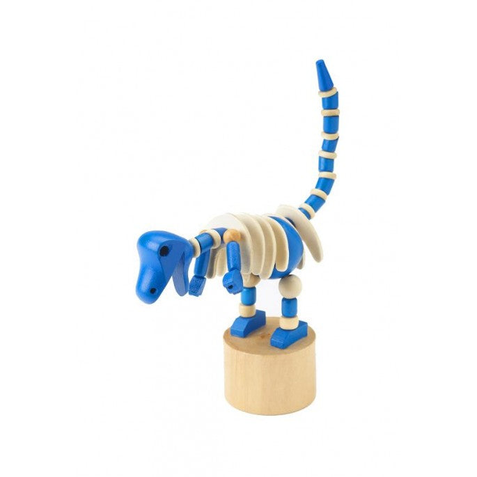 Blue Dinosaur Push Up Toy