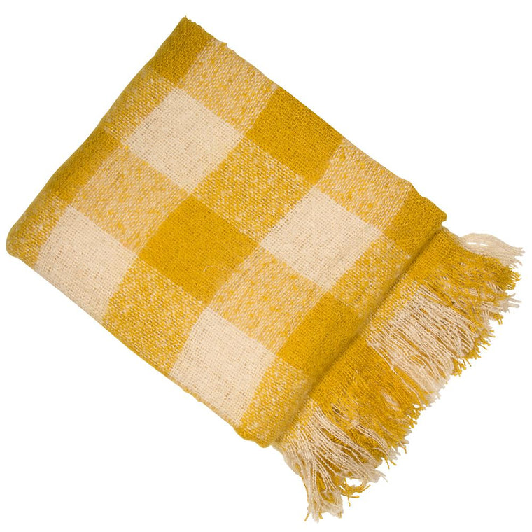 Dijon Throw - Mustard Yellow