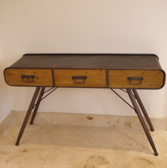Wood & Metal Industrial Style Desk