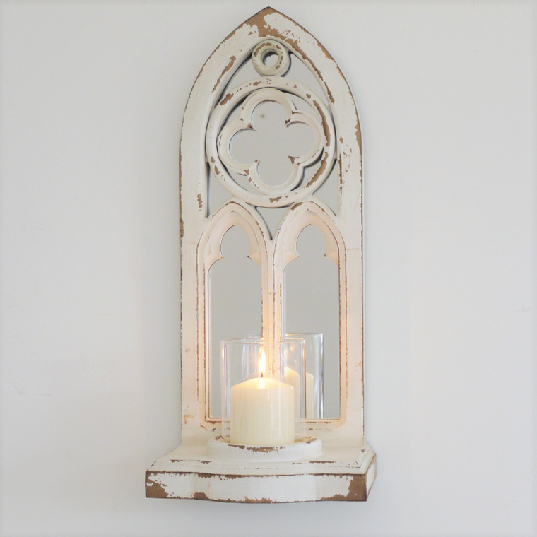Arch Mirror & Candle Holder