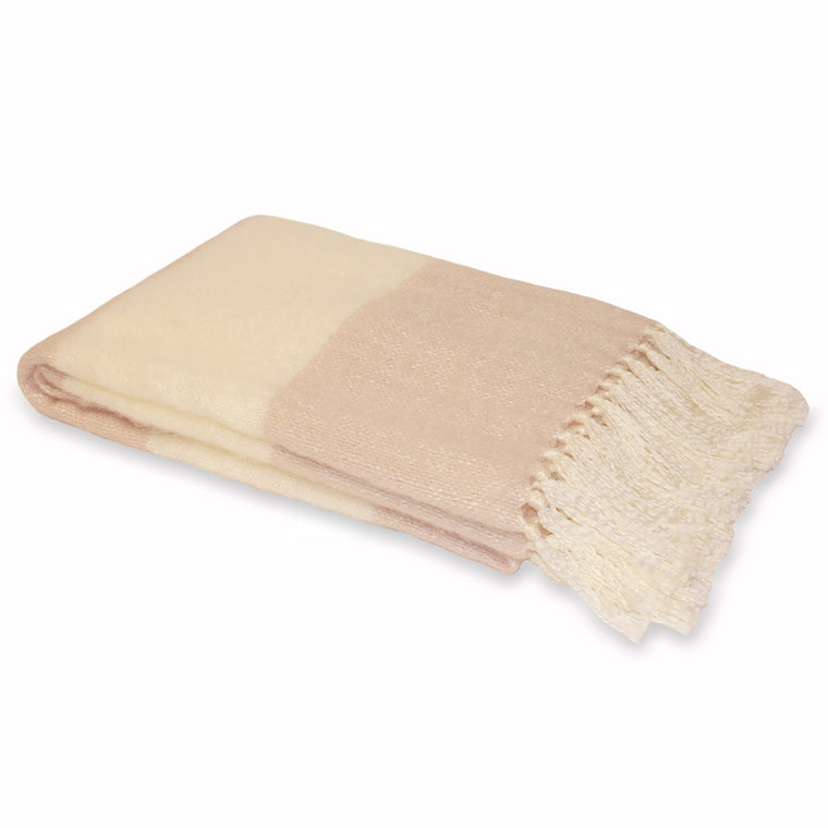 Cotswold Throw - Blush Pink