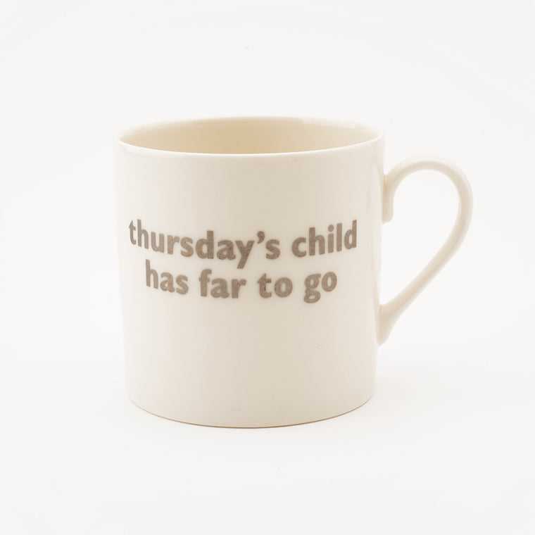 Real Platinum Thursday's Child Mug