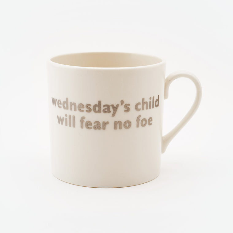 Real Platinum Wednesday's Child Mug