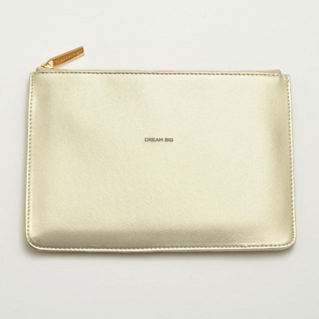 'Dream Big' Metallic Medium Pouch