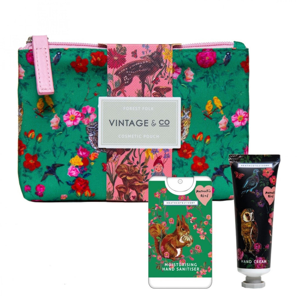 Nathalie Lété Forest Folk Cosmetic Pouch With Hand Cream & Sanitiser