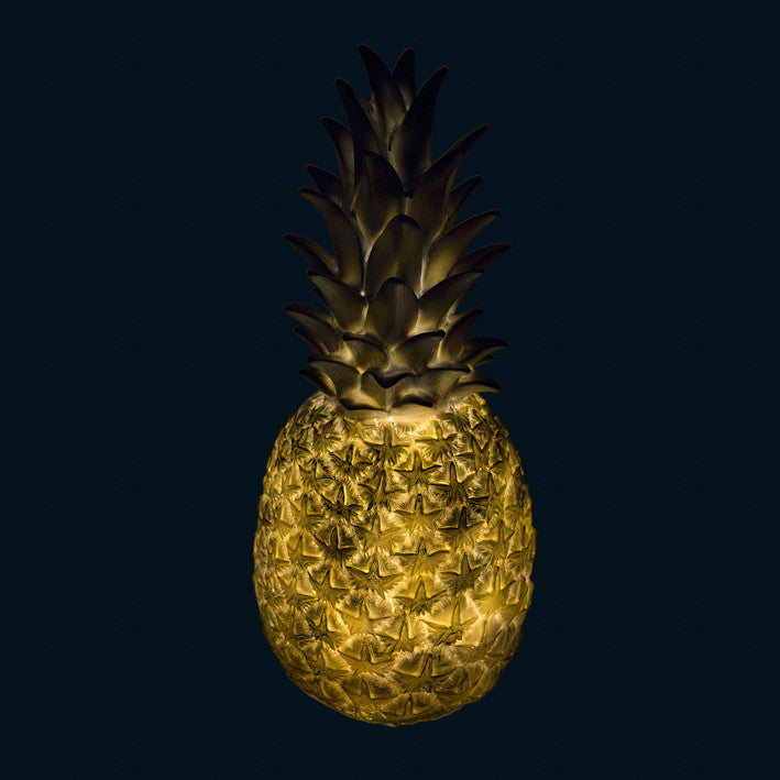 Goodnight Light Piña Colada Pineapple Lamp - Silver