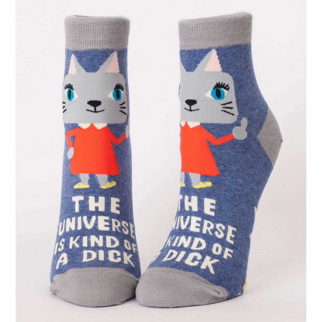 Blue Q Ankle Socks - The Universe Is A Dick
