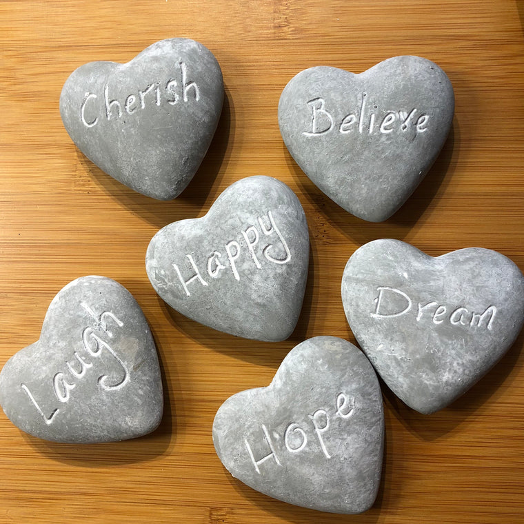 Gisela Graham Sentiment Heart Stones
