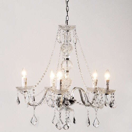 5 Arm Glass Chandelier