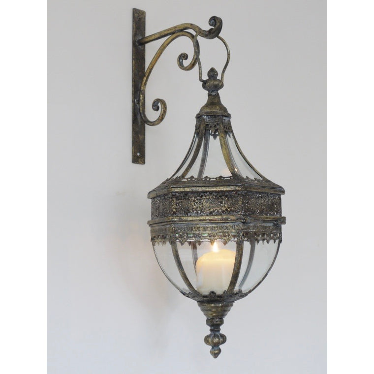 Wall Hanging Lantern Plus Bracket