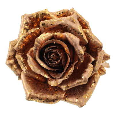 Glitter Rose Christmas Decoration