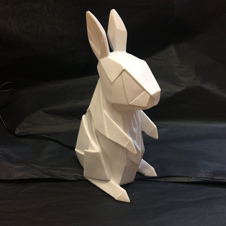 Origami White Rabbit Bunny Nightlight