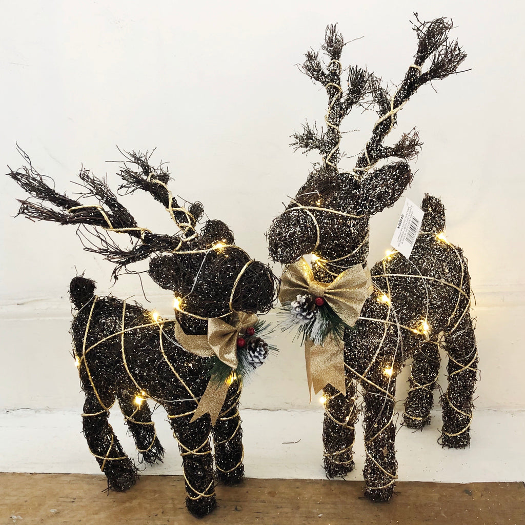 LED Light Up Reindeer - 2 Sizes