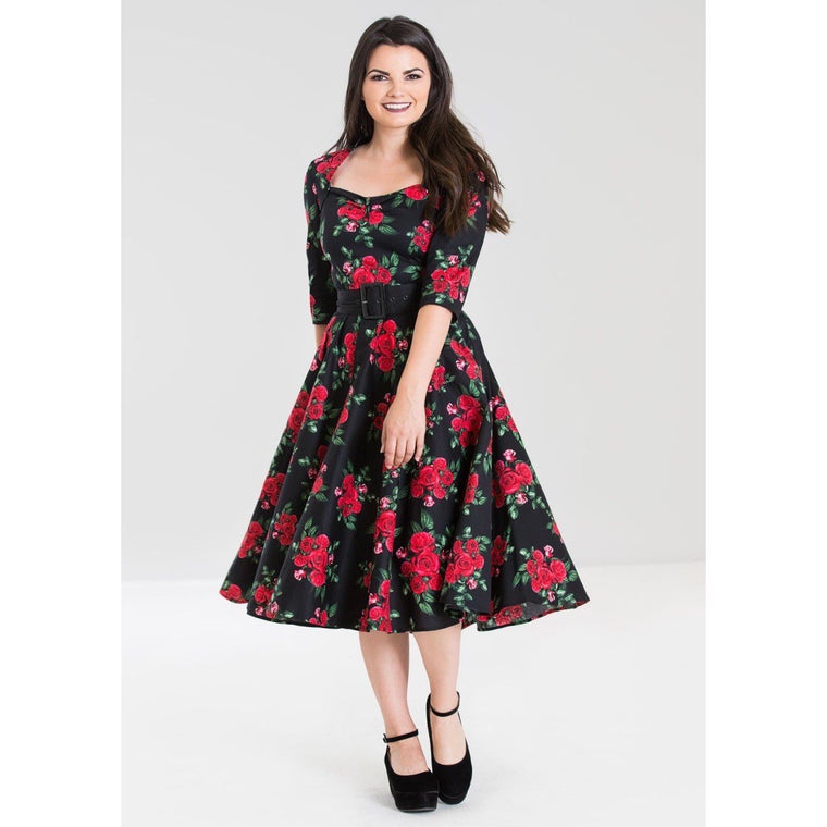 Hell Bunny Eternity 50s Dress - Black