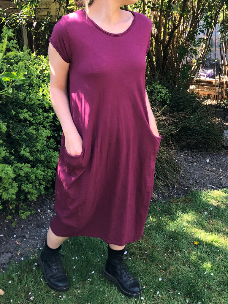 T-Shirt Dress - Burgundy