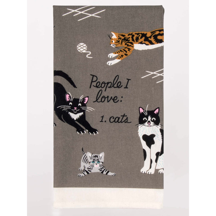 Blue Q Tea Towel - People I Love: Cats