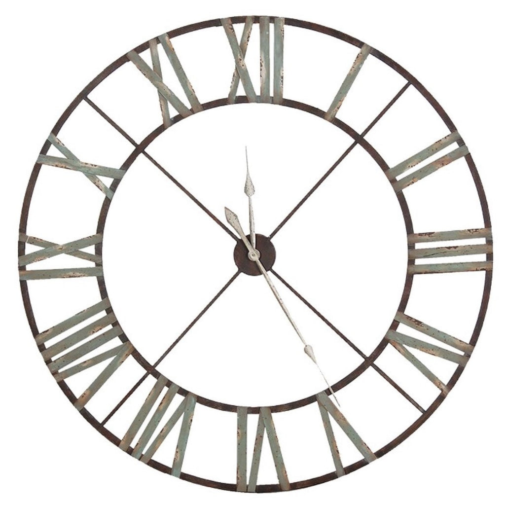 Amazing Huge Large Roman Numeral Iron Clock