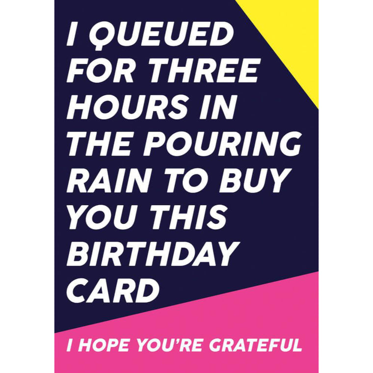 I Hope you're Grateful Birthday Card