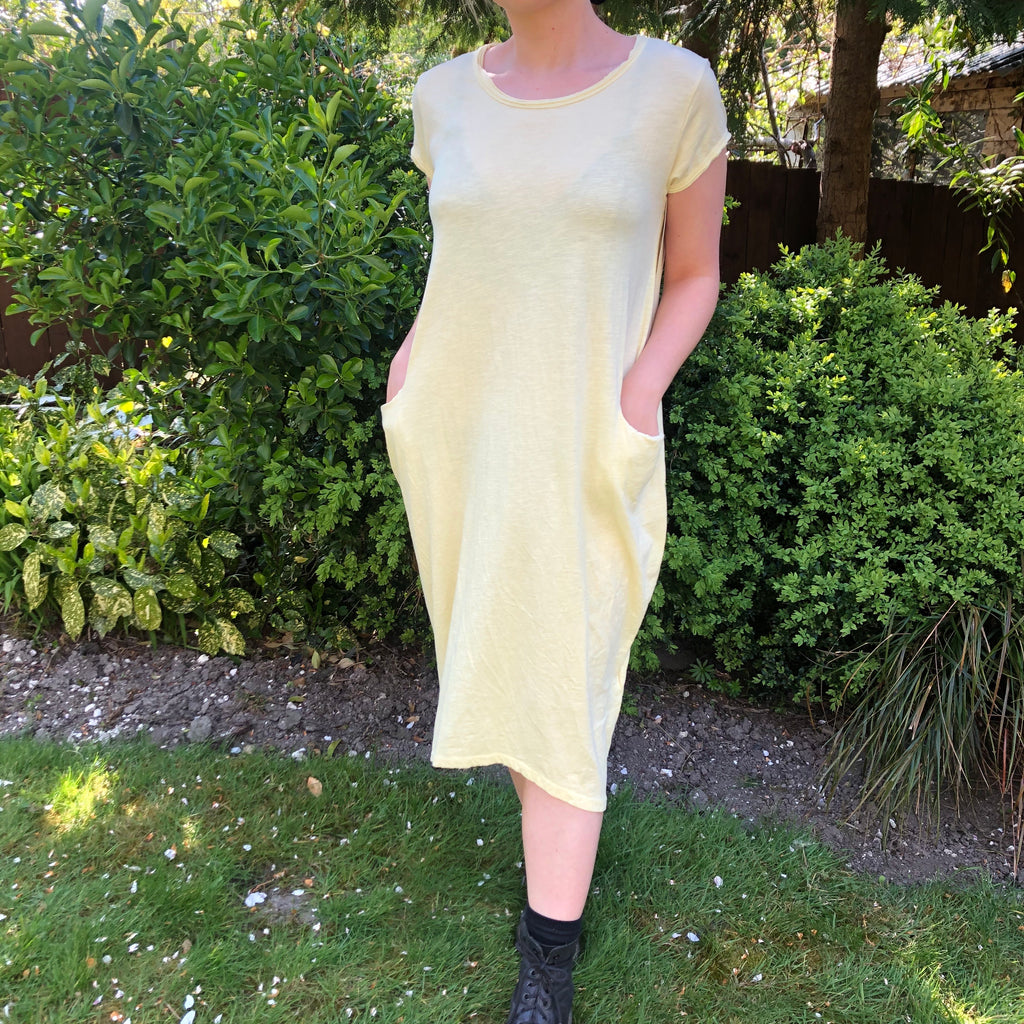 T-Shirt Dress - Lemon Yellow