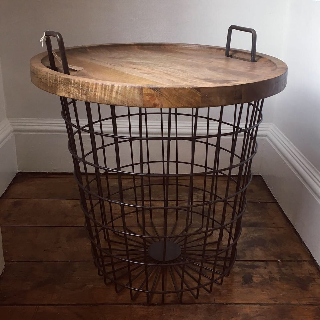 Industrial Style Basket Table