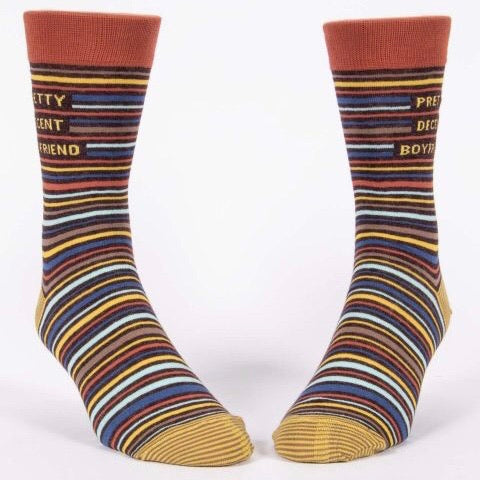 Pretty Decent Boyfriend - Mens Crew Socks