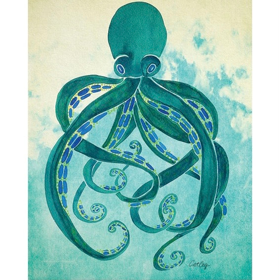 Octopus by Cat Coquilette Art Print - 40 x 50cm