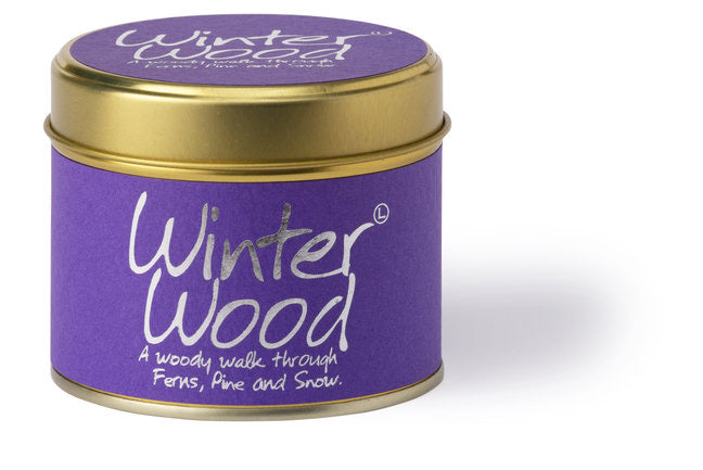 Lily-Flame Scented Tin Candle - Winter Wood