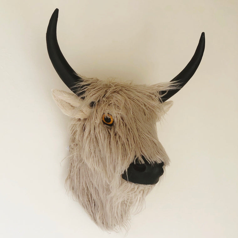 Highland Cow Yak Head Wall Mounted