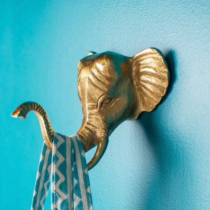 Gold Elephant Coat Hook