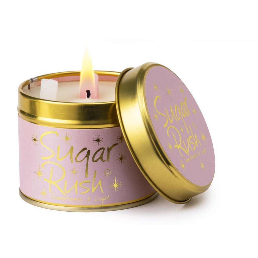 Lily-Flame Scented Tin Candle - Sugar Rush