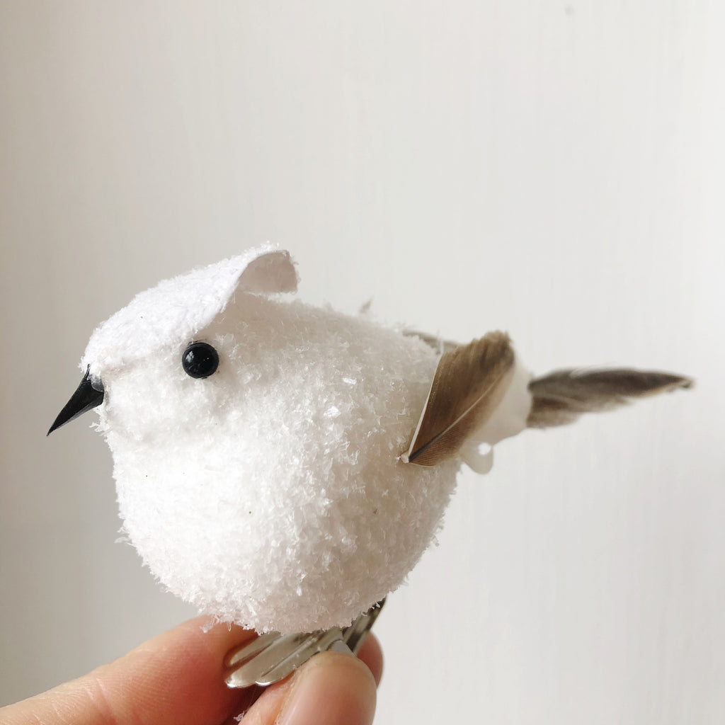 Snowy Bird on a Clip
