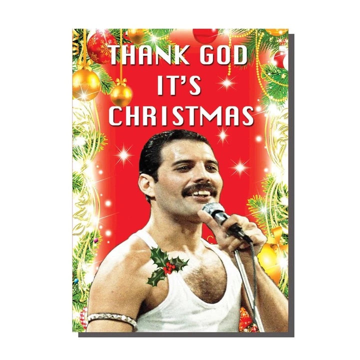 Freddie Mercury Thank God It's Christmas Card