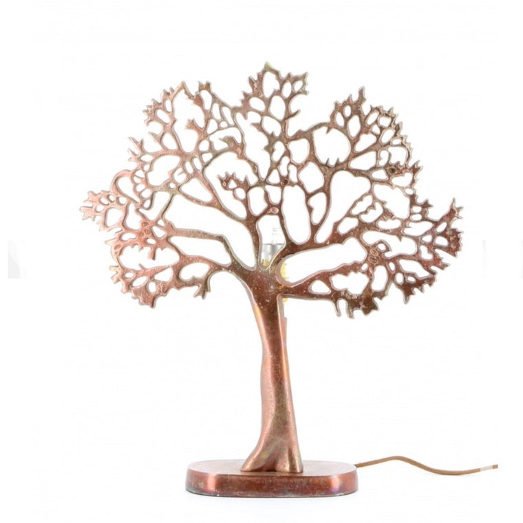 Copper Tree of Life lamp