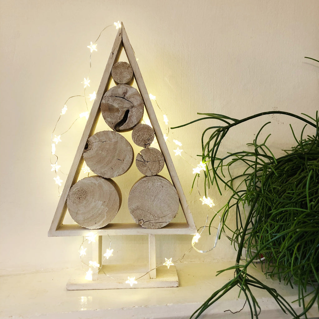 Scandi Style Wood Slice Christmas Tree